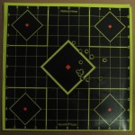 Target from 50 yards from the scoped Marlin